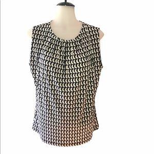 😀 Large Calvin Klein sleeveless blouse